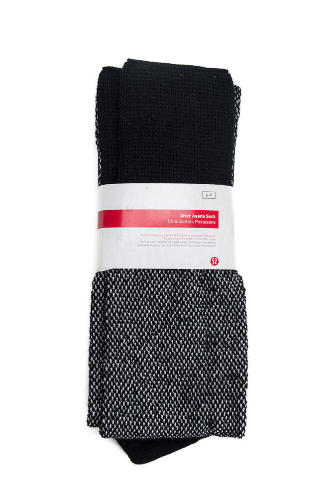 Gray Black Lululemon After Asana Sock