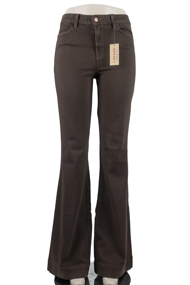 J Brand Brown Bellbottoms
