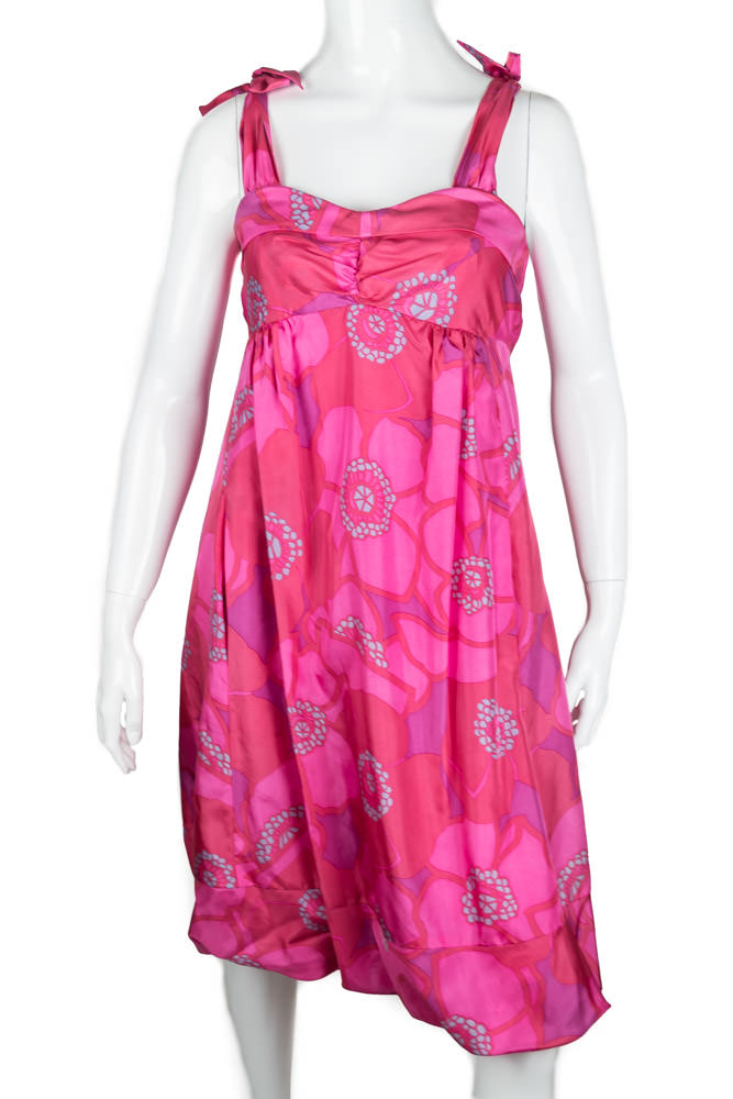 Pink Floral Babydoll Marc Jacobs Dress